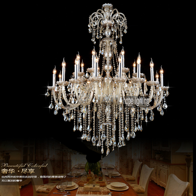 Luxurious European Style Lighting Large Crystal Chandeliers Contemporary Hotel Chandelier Light
