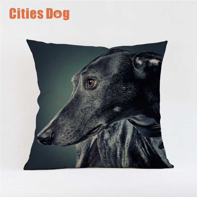 Tier Hund Kissenbezüge Nordic Windhund Hunde Kissenbezug Leinen Beige Kissenbezug autositz capa de almofada cojines