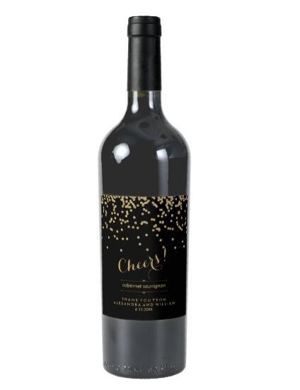 Benutzerdefinierte Hochzeit Weinflaschenetikett, anpassbare Wein - Partyartikel und Dekoration - Foto 2