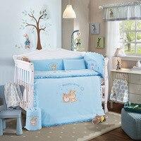 10 шт Детские Постельное белье для кроватки кровать для новорожденных постельное белье для девочек и мальчиков мультфильм Cot вставки для кро