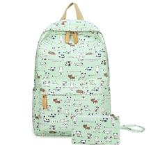 Девушки холст рюкзак 2 шт/комплект женщин школьные рюкзаки школьный рюкзак для подростков студент рюкзак высокое качество леди сумка