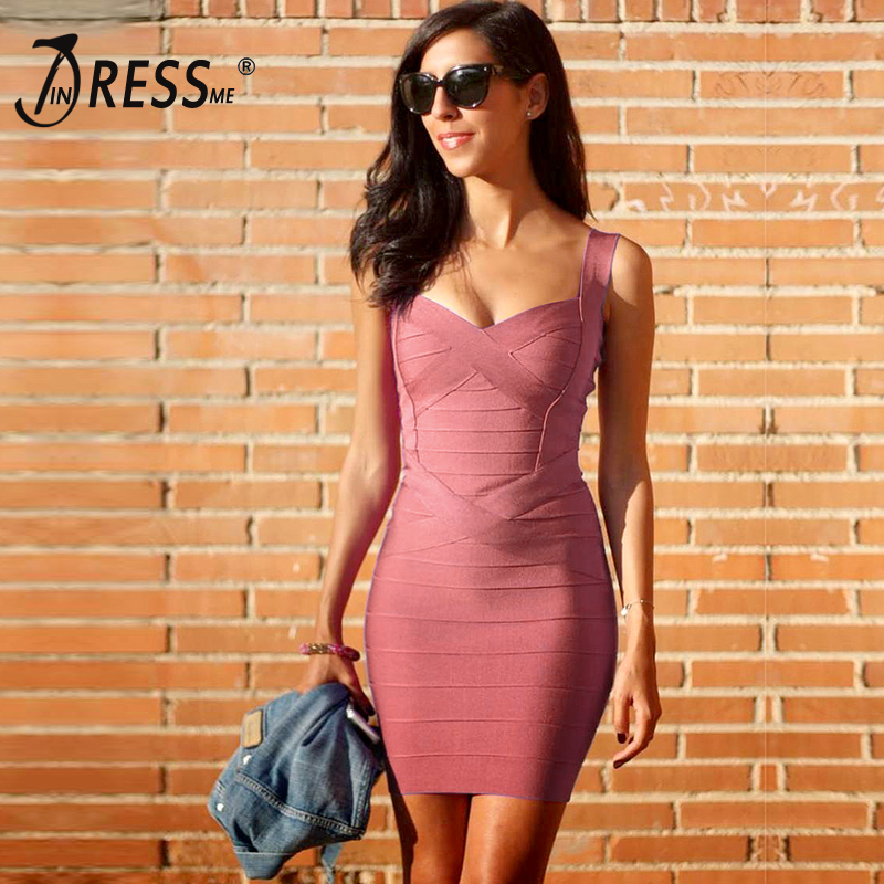 INDRESSME 2019 Bandage Dress Sexy Mini Spaghetti Strap Bodycon Strapless Club Party Summer Lady Dresses Femme Vestidos