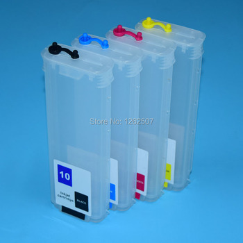 280ML Empty refill cartridge For HP 10 82 printer ink cartridge For HP Designjet 500 800 500ps 800ps with individual ARC chip formatter board c7769 c7779 for hp designjet printers 500 800 500ps 800ps a1 a0 42 24 printer plotter