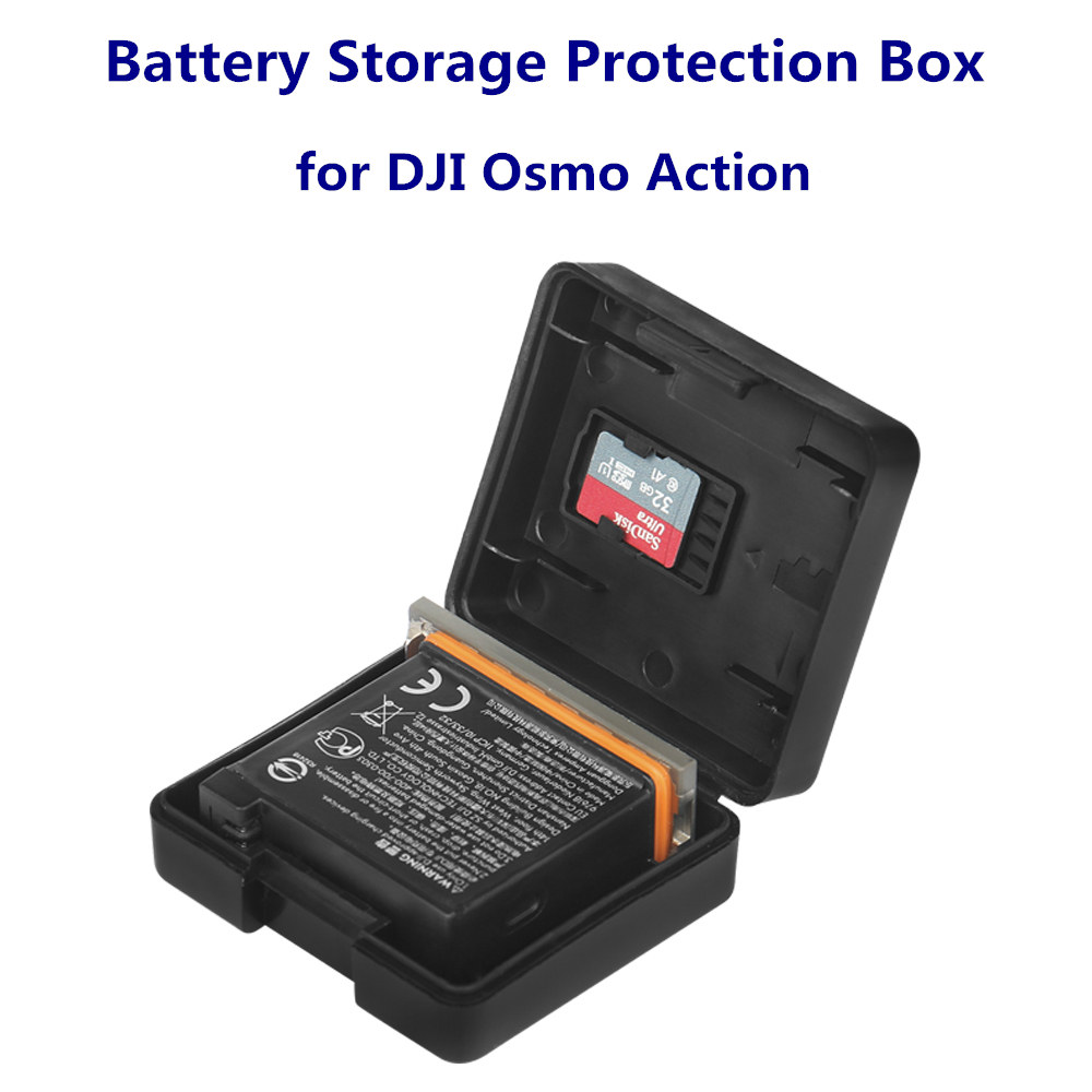 Osmo Action Protective Safe Battery Shell Storage Bag Case Box Type Accessories For DJI Osmo Action Sports Camera