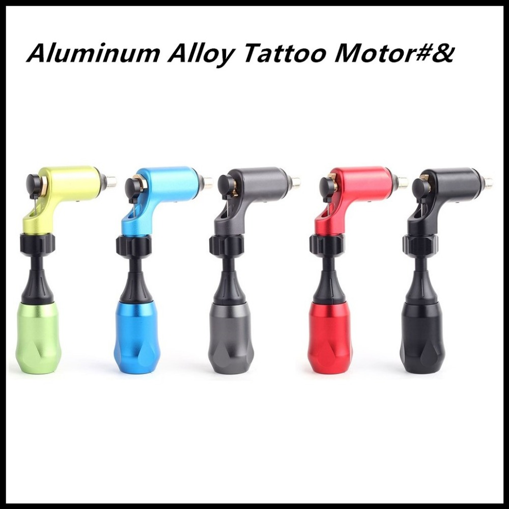 Aluminum Alloy Lightweight Tattoo Motor Stylish L-shape Low Noise Tattoo Machine Permanent Makeup Machine For Body Eyebrow stylish solid color lightweight pleated scarf for women