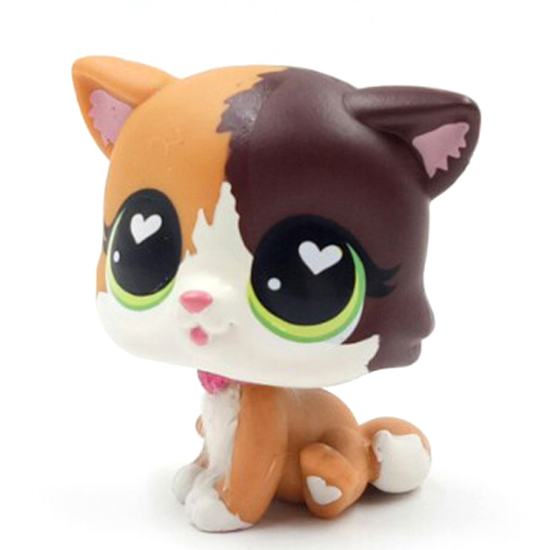 Image 3 - New pet shop lps toys standing Felina Meow short hair cat with white heart green eyes real anime figure toys for children-in Action & Toy Figures from Toys & Hobbies