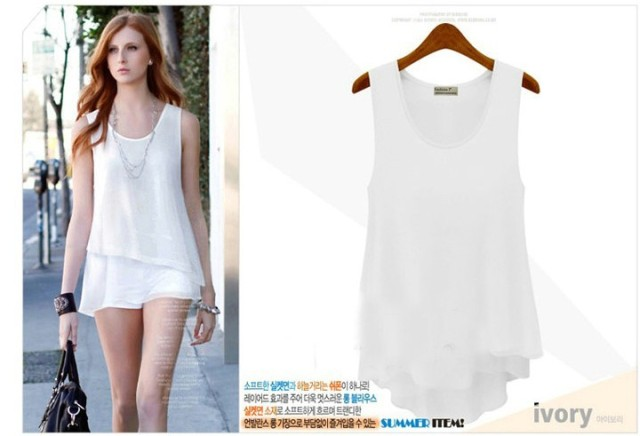 Aliexpress.com : Buy Women Female Chiffon Sleeveless Shirts ...