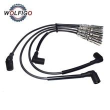 Wolfigo 4 шт. свечи зажигания провода кабеля для VW Beetle Jetta Golf 2.0L SOHC 2001-2008 27588 175-6224 VWC03 1AMSW00091