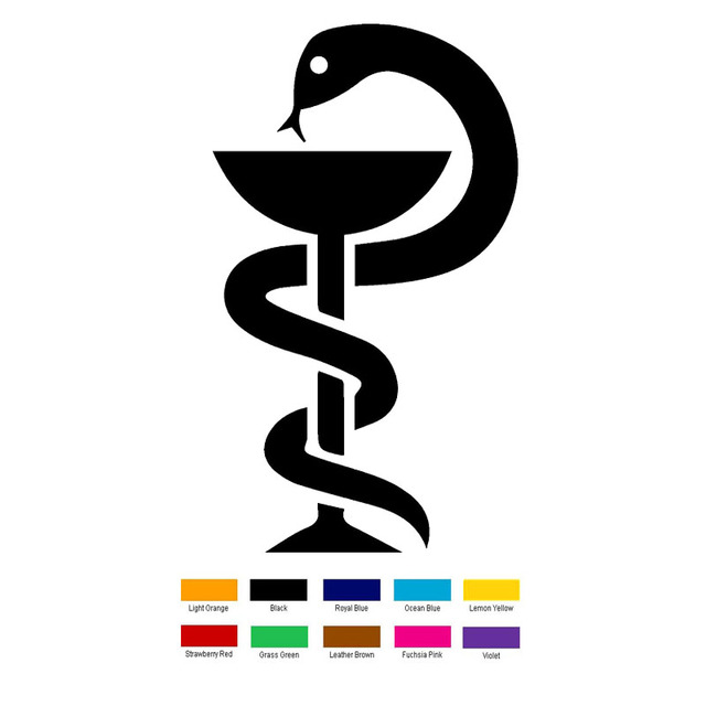16cm X 8cm Medical Symbol Car Sticker For Truck Window Bumper Auto