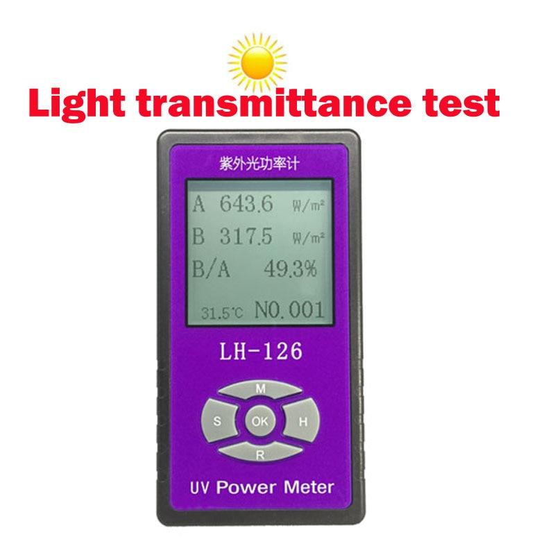 UV power Meter détecteur Barrière taux testeur Solaire Films UV essai de résistance au rayonnement, Chinois et Anglais interface option