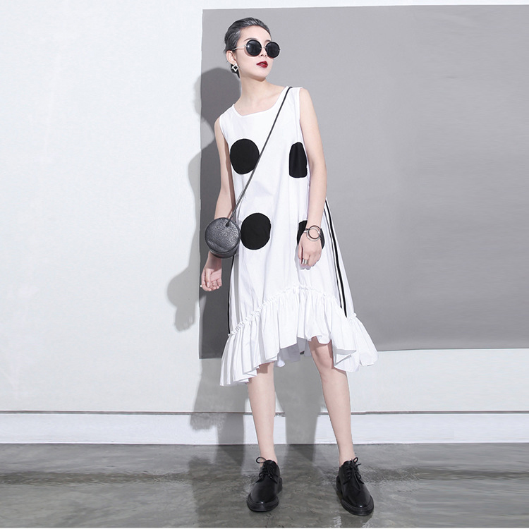 2018 estilo coreano mujeres del verano vestido negro sol grandes - Ropa de mujer - foto 5