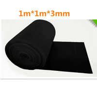 Activated Carbon Sponge Filter Net Smoke Odors Absorber Activated Carbon Fiber Filter 1m*1m*3mm For Vacuum Cleaner Purifier
