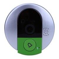 US Plug IP Door Camera Eye HD 720P Screen Wireless Doorbell WiFi Video Peephole Wifi
