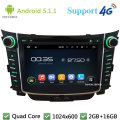 "Quad Core 7 ""1024*600 Android 5.1.1 Multimídia Carro DVD Player de Rádio Estéreo FM DAB + 3G/4G WIFI Mapa GPS Para Hyundai I30 2011-2016"