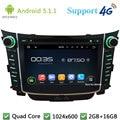 """Quad Core 7 """"1024*600 Android 5.1.1 Multimídia Carro DVD Player de Rádio Estéreo FM DAB + 3G/4G WIFI Mapa GPS Para Hyundai I30 2011-2016"""