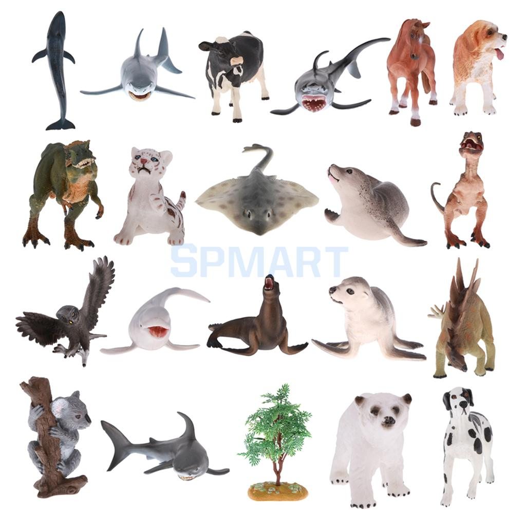 Realistic Wild Animal/Tree Model Figurine Action Figure Kid Educational Toy Gift ...