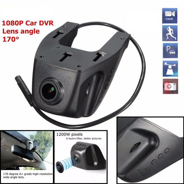 Hot Universal 170 Degrees Wide Angle HD 1080P WIFI Car DVR Camera Digital Video Recorder Dash Cam Night Vision