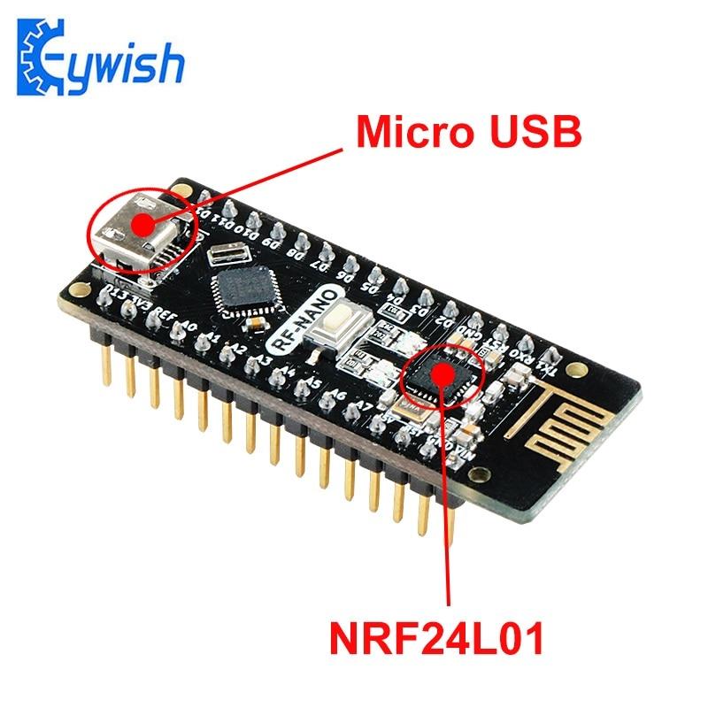 Keywish RF Nano Arduino Nano için V3.0, mikro usb Nano kurulu ATmega328P QFN32 5V 16M CH340, entegre NRF24l01 + 2.4G kablosuz, Imme
