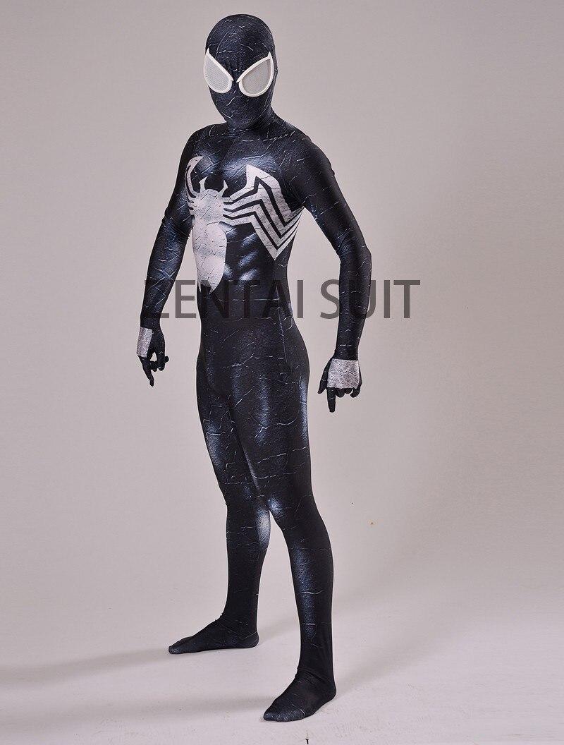 Venom Spider-man Costume Spandex 3D Տպագրություն Սև - Կարնավալային հագուստները - Լուսանկար 3
