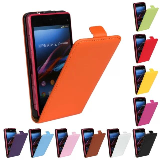 Genuine Leather Case for Sony Xperia Z1 Mini Flip Case Leather Cover for Sony Xperia Z1 Compact