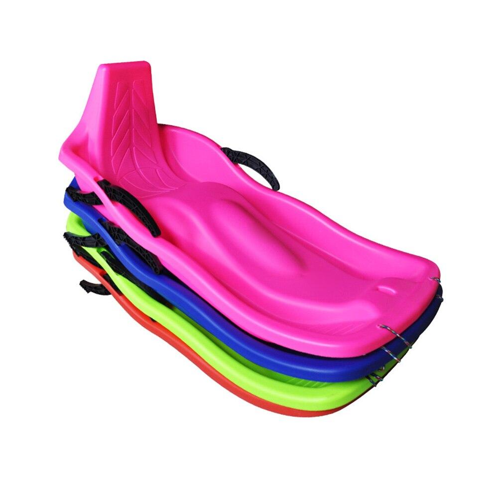 Sports de plein air planches de Ski en plastique Luge neige sable herbe planche Ski Pad Snowboard avec corde frein fonction 4 couleurs - 2