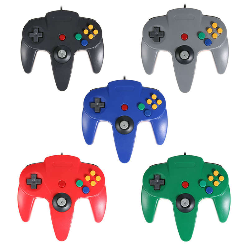 1pcs New Arrival Wired Game Controller Gamepad Game Stimulator Remote Control for Nintend N64 Gaming Console