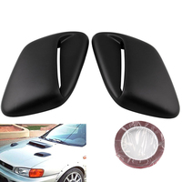 2PCS Styling Air Flow Intake Decorative Car Accessories Durable Replacement Hood Scoop Mildew Proof Bonnet For Subaru 99 01