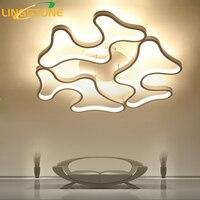Led Ceiling Lights Modern Lamp Aluminum Remote Control Dimming Lighting Fixture Living Room Bedroom Restaurant Dining