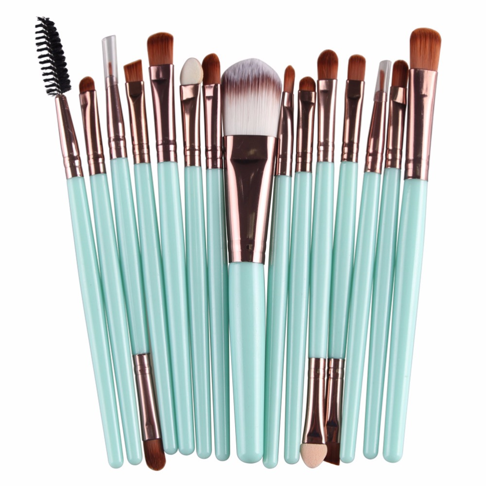 15pcs Set Professional Makeup Brush Brush Sets Toiletry Kit Wool Make Up Brush Set Overmal Wholesale