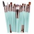 15 шт./компл. Профессиональный макияж кисти кисти наборы набор Кистей мех цвет макияж инструменты