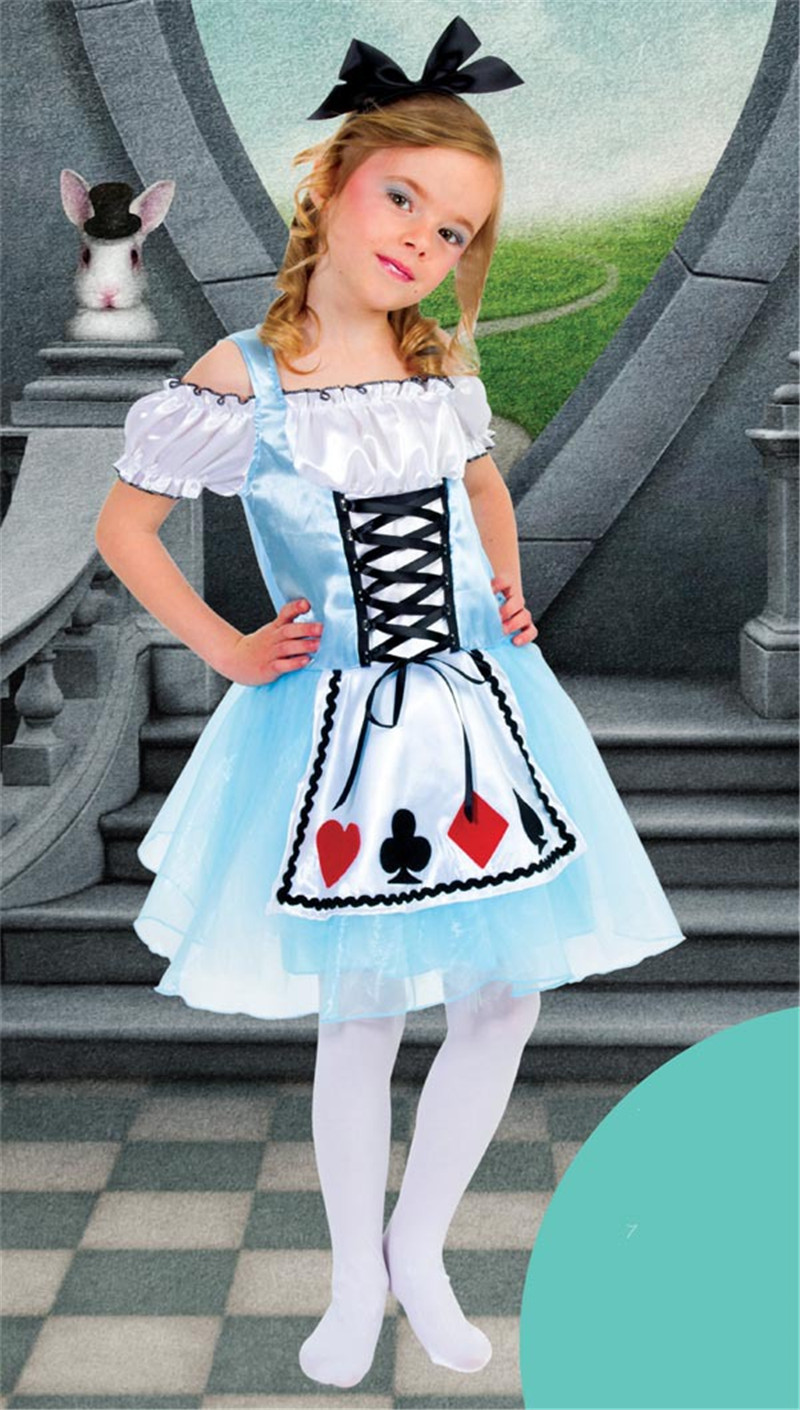 Alice in Wonderland Girls Dress Kids Performance Clothes Maid Cosplay Outfit Cute Children Halloween Party Costume  sc 1 st  AliExpress.com & Alice in Wonderland Girls Dress Kids Performance Clothes Maid ...
