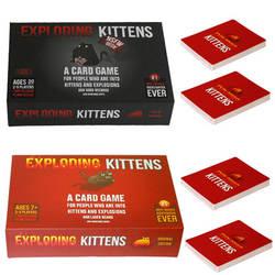 Настольные игры взорваться карты для котенка оригинальное издание эротику Edition красный Кот Черный кот Семья вечерние стратегию игры