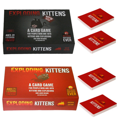 Board Games explode Cards Game for kitten Original Edition NSFW Edition Red Cat Black Cat Family