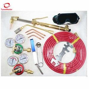 Image 4 - Kit de soplete de soldadura de corte de Gas, USA, 6290 puntas, encendedor de chispa, limpiador de punta, doble manguera, herramienta de soldadura de corte de Metal