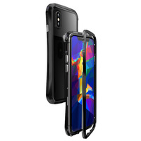 INTONE 360 Degree Case For iPhone X Tempered Glass Front Back Metal Full Magnetic Case For iPhone XS MAX XR Cover Funda Couque