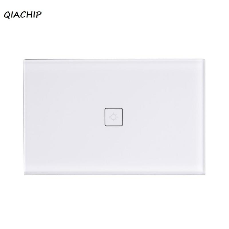 QIACHIP Touch Wall Wifi Switch Waterproof Glass Panel Touch LED Wi-Fi Wireless Remote Control Light Switch Smart Home US Plug H3 smart home touch control wall light switch crystal glass panel switches 220v led switch 1gang 1way eu lamp touch switch
