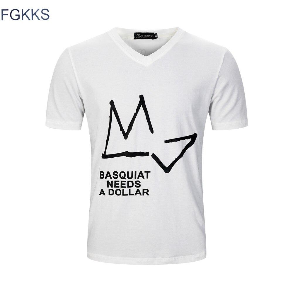 FGKKS 2018 Summer Funny T Shirt Men Brand Tees Fashion Slim Fit Casual Tops O-neck Print 100% Cotton Short Sleeve T-shirts
