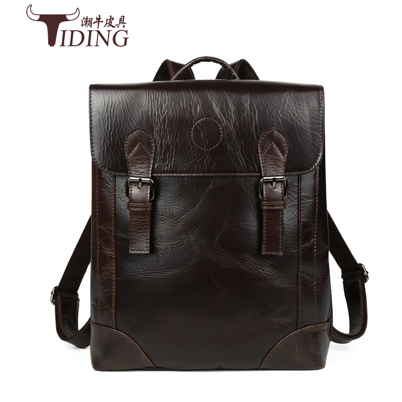 Male Bag Vintage Cow Leather School Bags For teenagers Travel Laptop Bag Casual Shoulder Bags Men BackpacksReal Leather Backpack male bag vintage cow leather school bags for teenagers travel laptop bag casual shoulder bags men backpacksreal leather backpack