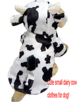 Pet clothes animals dairy cow shape pet clothing for dogs four sizes S-XL with hat for cat puppy dog clothes Perro abrigo.