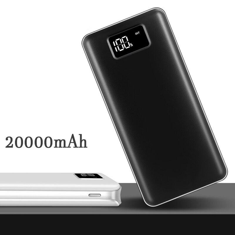 2018 Hot 20000 mah Banca di Potere carica Dual USB LCD Batteria Esterna Powerbank Caricatore Portatile del telefono Mobile per il telefono xiaomi