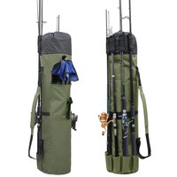 Hyaena Thickening Canvas Heavy Duty Fishing Rod And Reel Organizer Travel Carry Case Carrier Holder Pole Tools Storage Bags