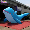 7m / 23ft long dolphin shaped lifelike giant inflatable replica dolphin for Aquarium exhibition