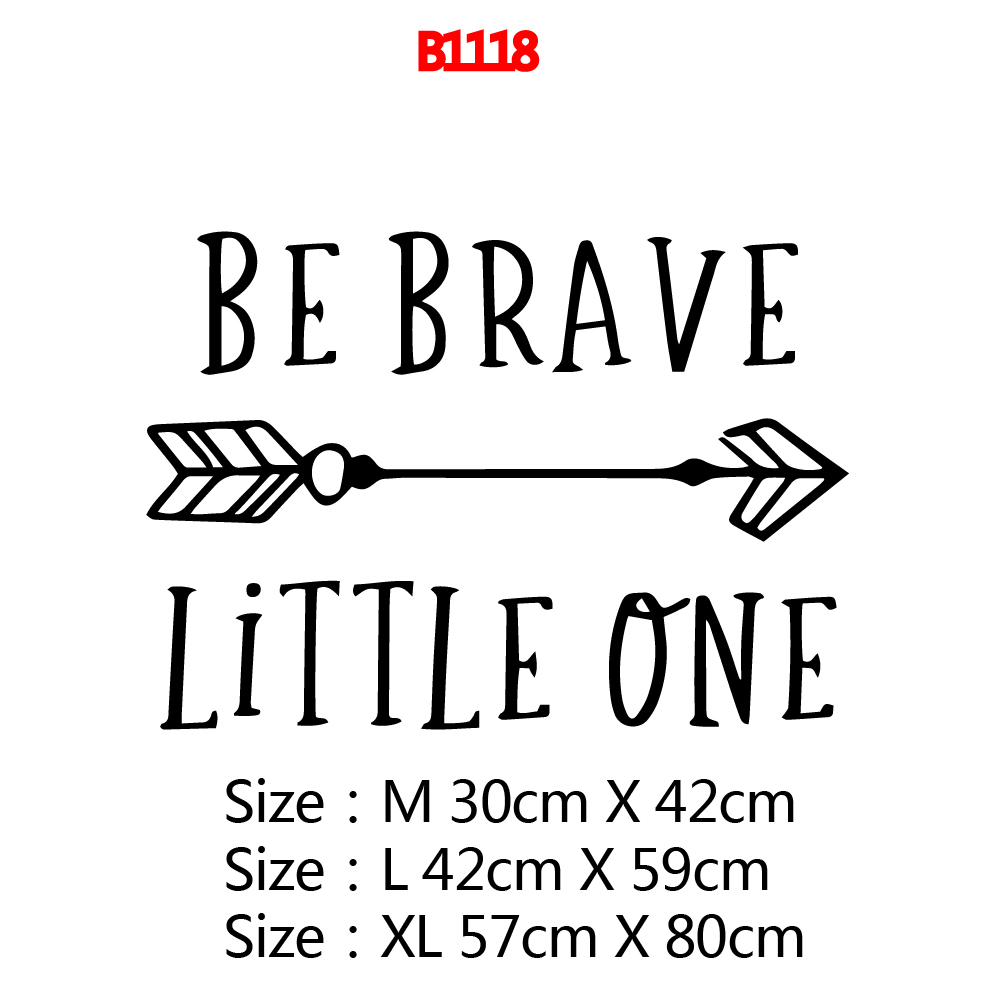 NEW Be Brave Wall Mural Removable Wall Decal For Living Room Bedroom Background Wall Art Decal Decorative Stickers in Wall Stickers from Home Garden