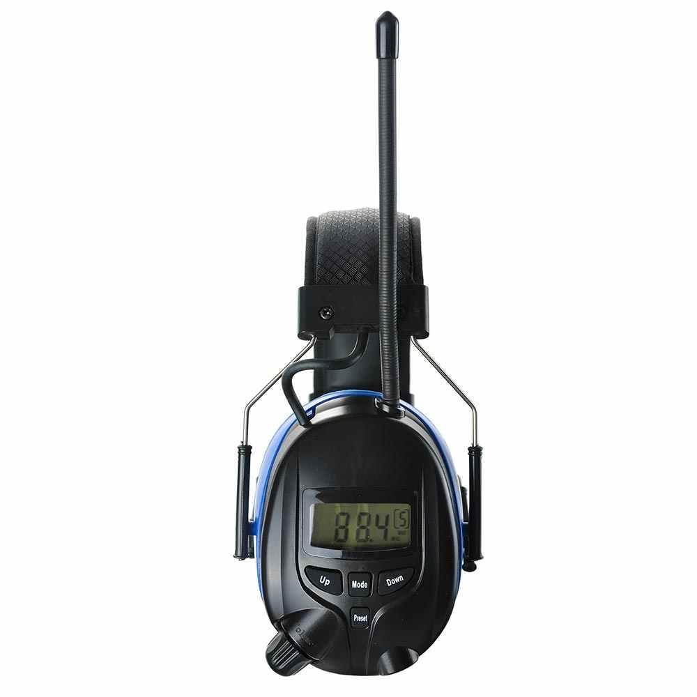 Bluetooth聴覚保護イヤーマフ付きam fmラジオとmp3互換電子ノイズリダクション耳プロテクターヘッドフォン