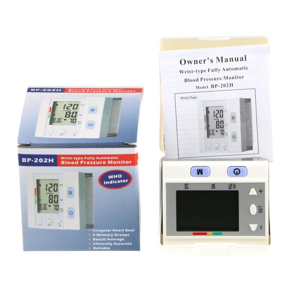 Висококачествен LCD цифров маншон на китката цифров дисплей монитор за кръвно налягане