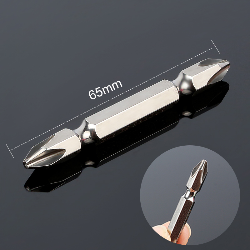 HOEN 1pcs Magnetic Phillips Screwdriver Bit Double Head Power Driver Bit S2 Alloy Steel 1/4