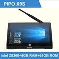 Pipo X9S Windows 10 Mini PC Smart TV Box Потокового Media Player 8.9 дюймов Tablet Intel Cherry Trail Z8300 Quad Core