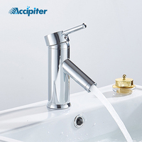 bathroom faucet Chrome basin faucet Straight inclined bathroom sink faucet tap water waterfall basin mixer shower mixer