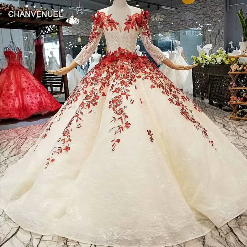 LS352440 ball gown beauty girls pageant party dresses long sleeve o neck color flowers floor length champagne autumn prom dress