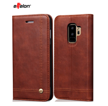 цена на New Wallet Case For Samsung Galaxy S9 Plus S9+ Magnetic Luxury PU Leather Wallet Phone Bags Cases For Samsung Galaxy S9 Plus S 9